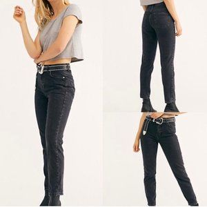 Free People Black Mom Jeans Size 25 NWT